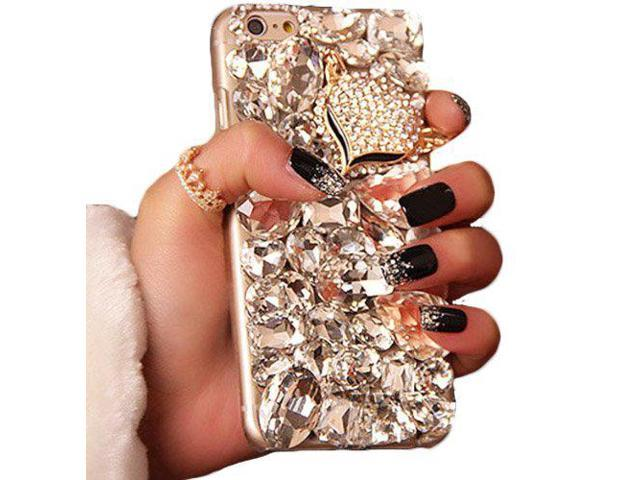 separation shoes 454bf b11a4 iPhone 6 Plus / 6S Plus Case, WwWSuppliers Luxury Fancy Bling Fox Crystal  Rhinestone Large Diamond Case For Apple iPhone 6 Plus / iPhone 6S Plus 5.5