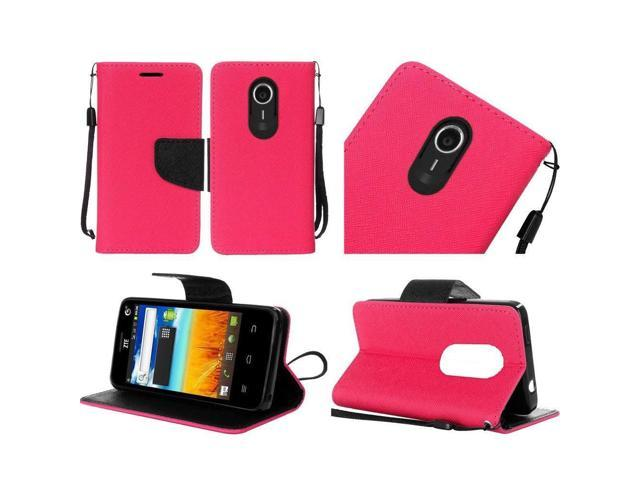 Wallet Card Pouch Case Phone Cover for ZTE Quest N817 Uhura (Pink) -  Newegg com