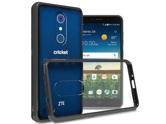 new styles 1bfcf c6a96 ZTE Blade X Max Case, CoverON [ClearGuard Series] Hard Clear Back Cover  with Flexible TPU Bumpers Slim Fit Phone Cover Case for ZTE Blade X Max -  ...