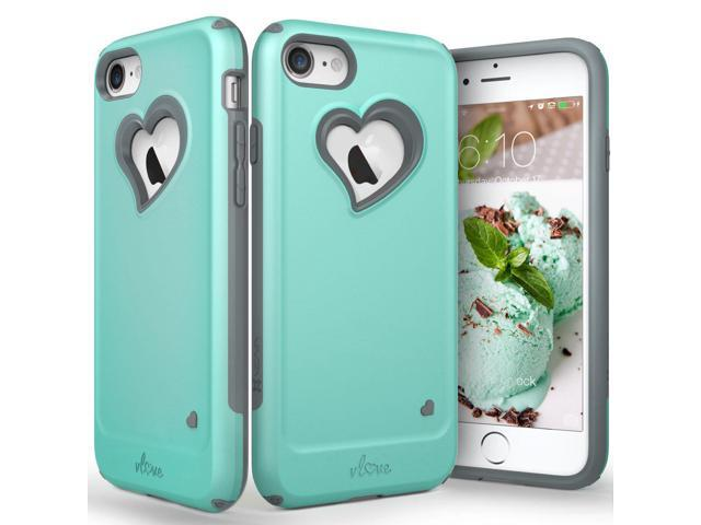 more photos d756c 97f53 Vena iPhone 8 Case, iPhone 7 Case, [vLove][Heart-Shape | Dual Layer  Protection] Hybrid Bumper Cover for Apple iPhone 8, iPhone 7 (4.7