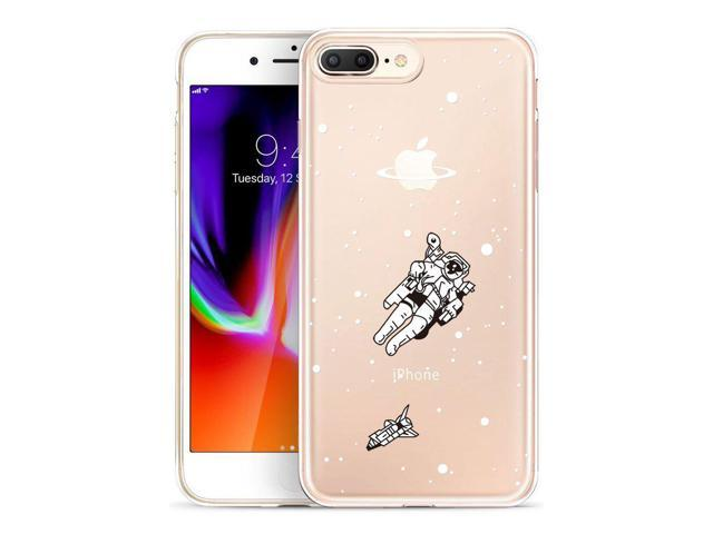 low priced 1e339 28259 GoldSwift Cute Cartoon Clear Flexible Gel Case for iPhone 8 Plus, iPhone 7  Plus, iPhone 6S Plus and iPhone 6 Plus (Astronaut) - Newegg.com