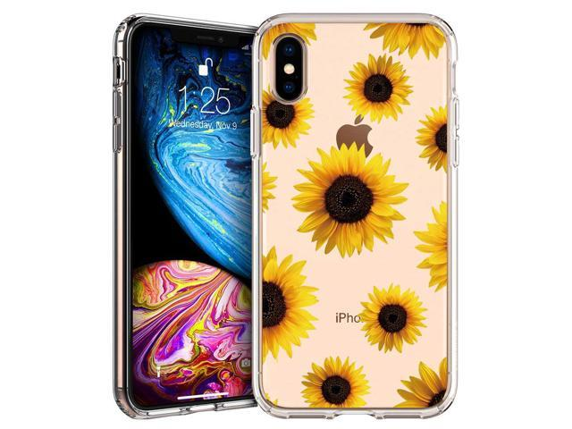 brand new e6d04 84e54 GoldSwift Clear Case with Designed for iPhone Xs Max with Tempered Glass  Screen Protector (Sunflower) - Newegg.com