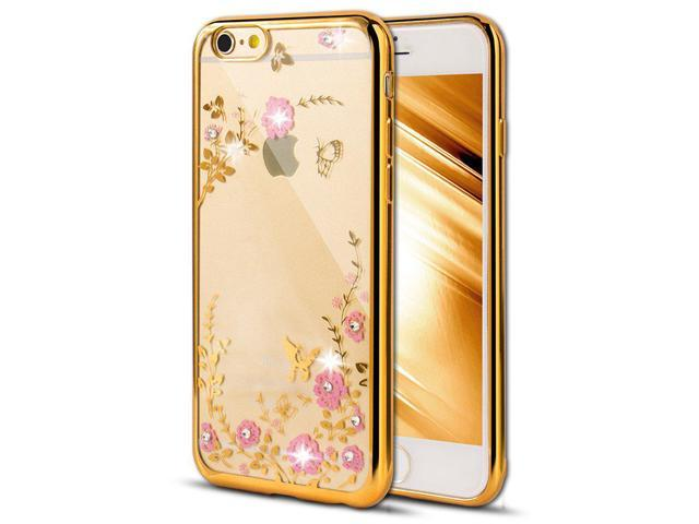 watch 84dbb 49f3c 6S Case,iPhone 6 Case,EMAXELER Bling Swarovski Crystal Rhinestone Diamond  Case for iPhone 6S,Following From Electroplating Process Flexible TPU Case  ...