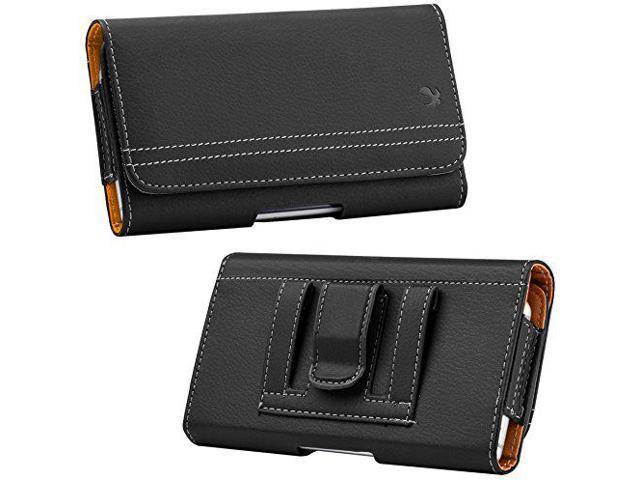 huge discount 0d3e3 538ac Case Pouch Clip Horizontal Credit Card Holder Belt Loop Black Compatible  Motorola Moto Z2 Play - Newegg.com