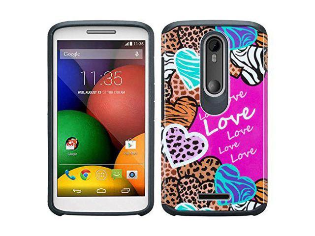 detailed look c09d1 465a7 Motorola DROID TURBO 2 Case, [Shock Absorption/Impact Resistant] Hybrid  Dual Layer Armor Defender Protective Case Cover for Verizon Driod Turbo 2  ...