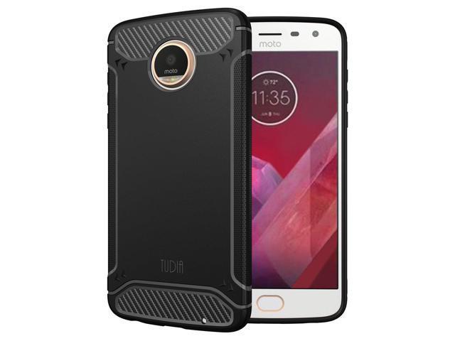 check out 228c9 1e9af TUDIA Motorola Moto Z2 Play Case, Carbon Fiber Design Lightweight [TAMM]  TPU Bumper Shock Absorption Cover for Motorola Moto Z2 Play (Black) - ...