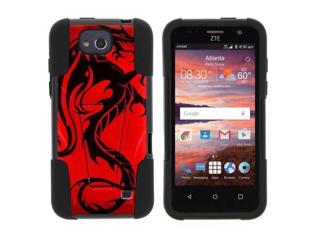new style 2bb16 ef83b TurtleArmor | Compatible for ZTE Maven Case | ZTE Fanfare Case | ZTE Atrium  Case [Gel Max] Hybrid Dual Layer Hard Shell Kickstand Silicone Case - Red  ...
