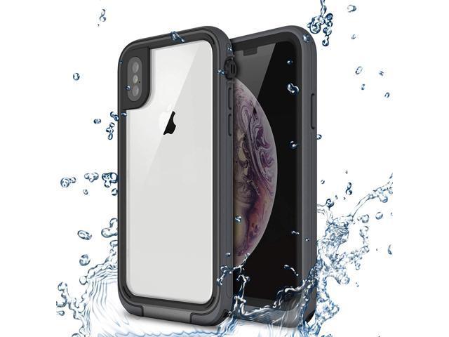 lowest price e8002 5e715 iPhone Xs/X Waterproof Case, Maxace IP68 Certified Heavy Duty Full Body  Protective Waterproof Shockproof Snowproof Dirtproof Case Cover for Apple  ...