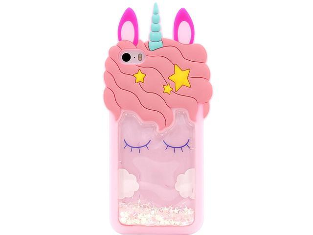 Unicorn Glitter Liquid Case For Apple