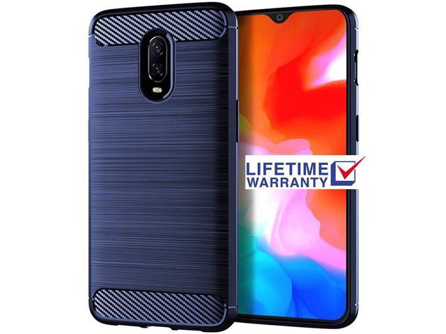 Oneplus 6t Case, Asmart Shock Absorption Case Oneplus 6t Slim Carbon Fiber  Cover Flexible TPU Protective Phone Case for Oneplus 6t T-Mobile (Blue) -