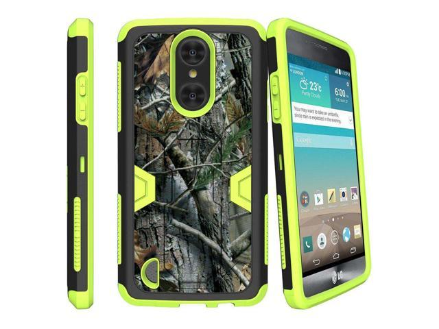 MINITURTLE Case Compatible w/ LG Risio 2 Green Case| LG Rebel 2 Case| LG  Aristo Case| LG K4 (2017)[MAX DEFENSE] Shockproof Green Silicone and Hard