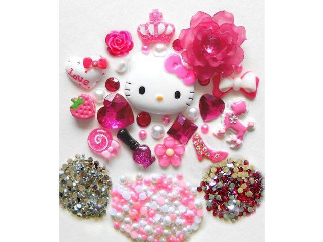 98fa6681a LOVEKITTY DIY Kitty Bling Bling Cell Phone Case Resin Flatback Deco Kit /  Set