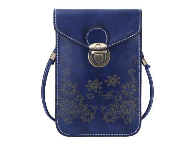 77c43fbe9853 Bosam Soft Leather Purse and Handbags,iPhone Xs 8 7 Plus Bags Wallet  Crossbody for Woman with Shoulder Strap (Navy Blue) - Newegg.com