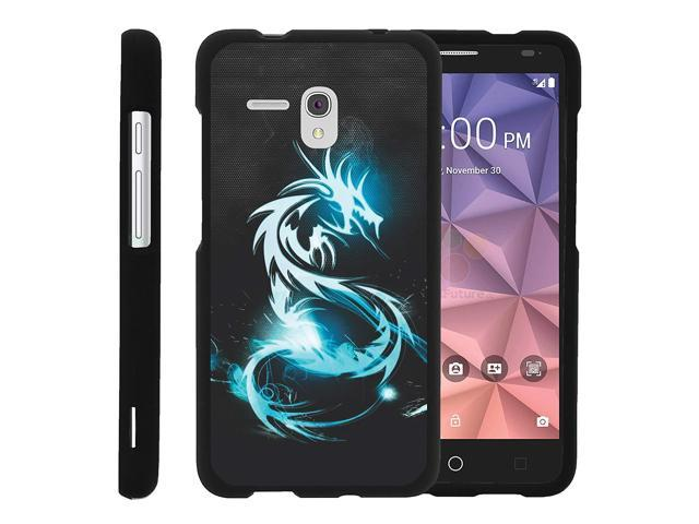 sneakers for cheap e34f0 95b7f Alcatel One Touch Fierce XL Case, Slim Fit Snap On Cover with Unique,  Customized Design for Alcatel Fierce XL by MINITURTLE - White Dragon - ...