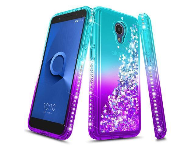 Girls Case Liquid Aqua Shiny Glitter