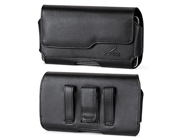 online store 54c3f ac4c2 for ZTE Zfive L LTE Z861BL Z862VL, ZTE Avid 4 Z855, Premium Leather AGOZ  Pouch Case Holster Cover with Belt Clip & Loops and Magnetic Closure - ...