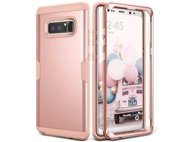 Galaxy Note 8 Case, YOUMAKER Rose Gold Full Body Heavy Duty