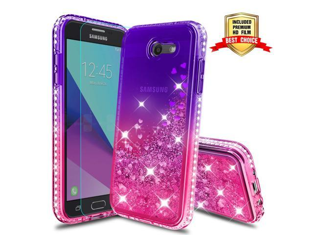 sports shoes 5b2d6 14431 Samsung Galaxy J3 Prime/J3 Eclipse/J3 Emerge/J3 Mission/J3 Luna Pro/Express  Prime 2/Amp Prime 2/Sol 2/J3 2017 Glitter Case with HD Screen Protector, ...