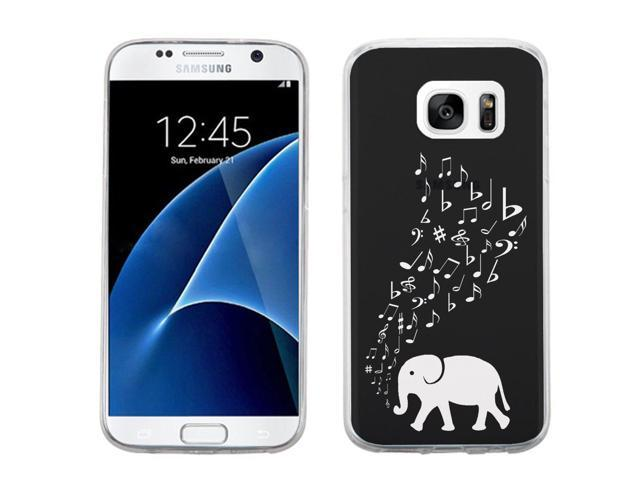 free shipping fec19 f3f87 Fit Galaxy S7, One Tough Shield ® SLIM-FIT Shock Absorbing TPU Phone Case  for Samsung Galaxy S7 - (Elephant Music ) - Newegg.com