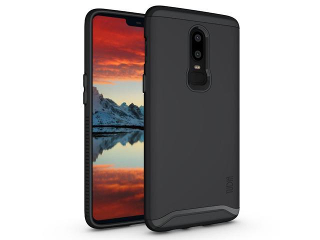 hot sale online 440c7 82be0 OnePlus 6 Case, TUDIA Slim-Fit Heavy Duty [Merge] Extreme Protection/Rugged  but Slim Dual Layer Case for OnePlus 6 (Matte Black) - Newegg.com