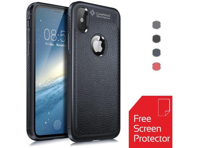 new product a7c35 bf388 iPhone X Case Set with Screen Protector & Microfiber Cloth - Ultra Thin and  Slim - Shockproof Drop Protection - Anti Slip and Scratch - Easy Grip - ...