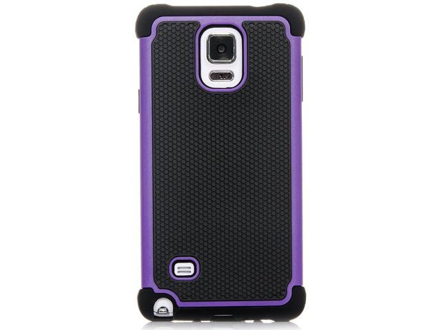 wholesale dealer 8ace7 fb852 Galaxy Note 4 Case, iSee Case (TM) Heavy Duty Dual Layer Hybrid Protective  Cover Case for Samsung Galaxy Note 4 (Note4-3 in 1) (Purple) - Newegg.com