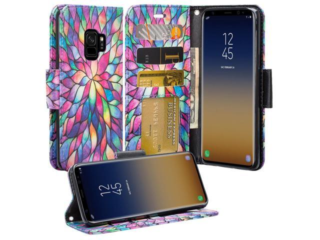 premium selection 04f1f 48610 Galaxy S9 Plus Case, Samsung Galaxy S9 Plus / S9+ Phone Cases, Wrist Strap  Flip Folio [Kickstand] Pu Leather Wallet Case with ID&Credit Card Slot For  ...