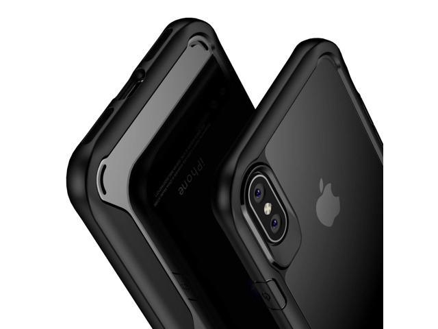 super popular 8842d c6ddb Olixar iPhone Xs Bumper Case - Hard Tough Cover - Shock Protection - Slim  Clear Design - Wireless Charging Compatible - for iPhone Xs (2018) 5.8