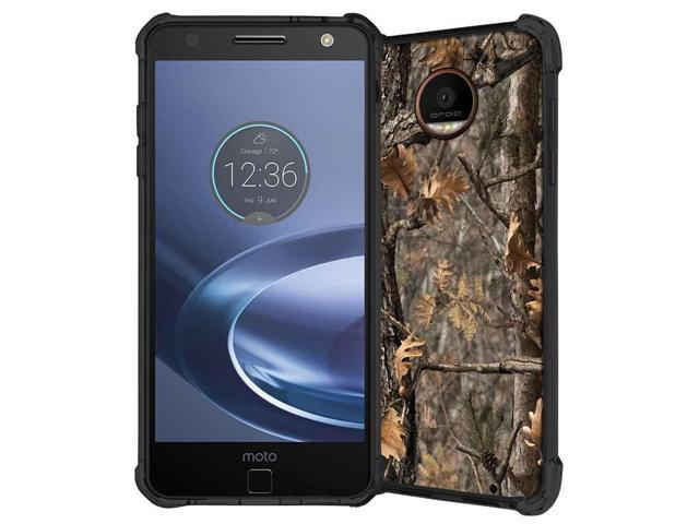 detailed look 4f73e 10e16 Moto Z2 Force Case, Moto Z2 Force Droid Case, ABLOOMBOX Hunting Camo Fabric  Camouflage Pattern Shock Absorption Soft Bumper Slim Rubber Protective ...