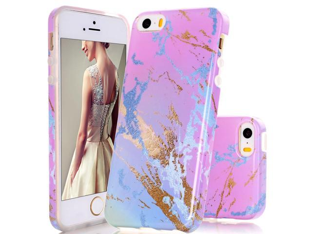 new product e5417 3e634 iPhone 5 Case,DOUJIAZ Gradual Color Marble Design Clear Bumper TPU Soft  Case Rubber Silicone Skin Cover for Apple iPhone 5/5S/SE- Style A -  Newegg.com