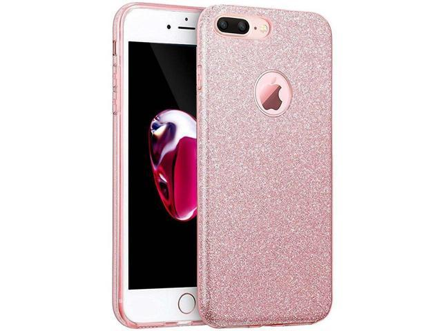 Iphone 8 Plus Case Eraglow Iphone 8 Plus Back Cover Sparkle Shinning Protective Bumper Bling Glitter Case For 55 Inches Iphone 8 Plus Rose Gold
