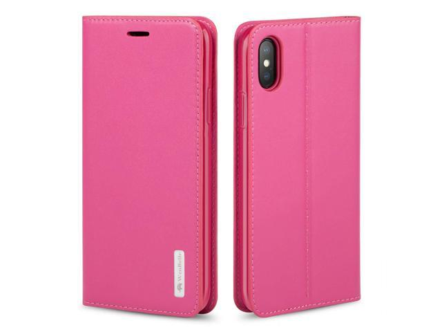 iphone xs flip case pink