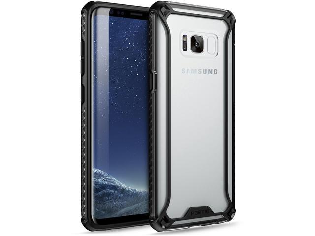 buy popular ed9f5 dd938 Poetic Affinity Slim Fit Galaxy S8 Case with Anti-Slip Side Grip and  Reinforced Corner Protection Bumper for Samsung Galaxy S8 Black/Clear - ...
