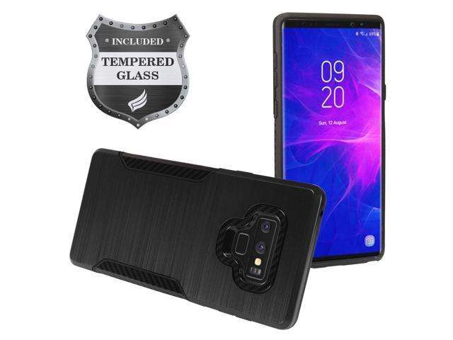 info for a33a6 3b4fd Eaglecell - Samsung Galaxy Note 9 SM-N960 Note9 - Brushed Hybrid Case +  Tempered Glass Screen Protector - ZY3 Black - Newegg.com