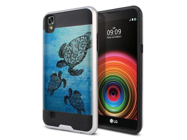 new product d440d 418ee FINCIBO Case Compatible with LG X Power LS755 US610 K450 K210 K6 K6P K220,  Dual Layer Brushed Hybrid Protector Case Cover TPU for LG X Power LS755 ...