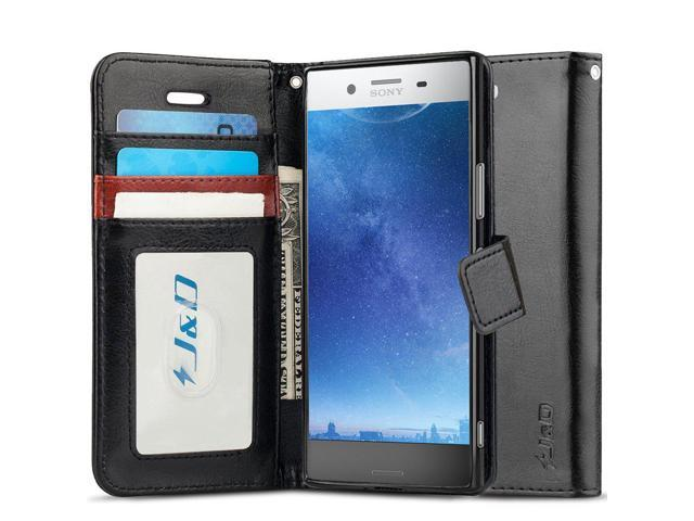 outlet store 4cf95 05062 J&D Case Compatible for Xperia XZ Premium Case, [Wallet Stand] [Slim Fit]  Heavy Duty Protective Shock Resistant Flip Cover Wallet Case for Sony  Xperia ...