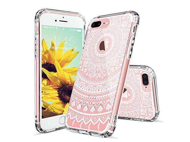 lowest price 1118d c2250 iPhone 7 Plus Case, Clear iPhone 7 Plus Case, MOSNOVO White Henna Mandala  Floral Lace Printed Clear Design Plastic Back with TPU Bumper Protective ...