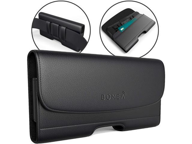 new style fe4a9 08d75 BOMEA iPhone 8 Plus Holster iPhone 7 Plus Case with Belt Clip Leather Pouch  with ID Card Holder for iPhone 8 Plus 6S Plus (Belt Case Fits Phone with ...