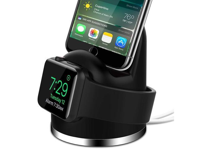new styles 9a74f 3a5fc OLEBR Charging Stand for Apple Watch 4, Airpod iPhone  X/8/8Plus/7/7Plus/6s/6s Plus Dock, 2 in 1 Charging Dock for iWatch 4,  Charging Station for ...