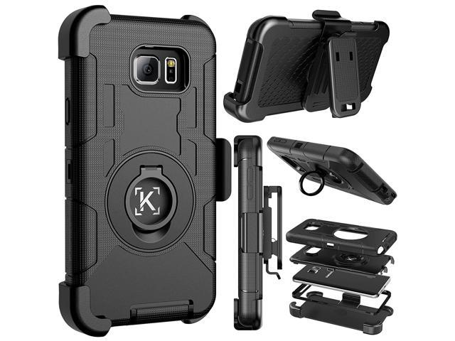 finest selection 19612 6f3d5 Note 5 case,Kaptron Galaxy Note 5 hybrid dual layer combo armor defender  protective case with kickstand and belt clip for Samsung Galaxy Note 5 ...