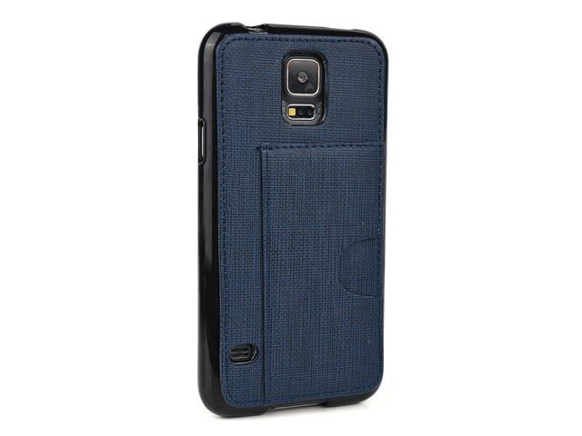 san francisco 07310 dc828 Kroo Cell Phone Case with Card Holder for Samsung Galaxy S5 - Non-Retail  Packaging - Navy Blue - Newegg.com