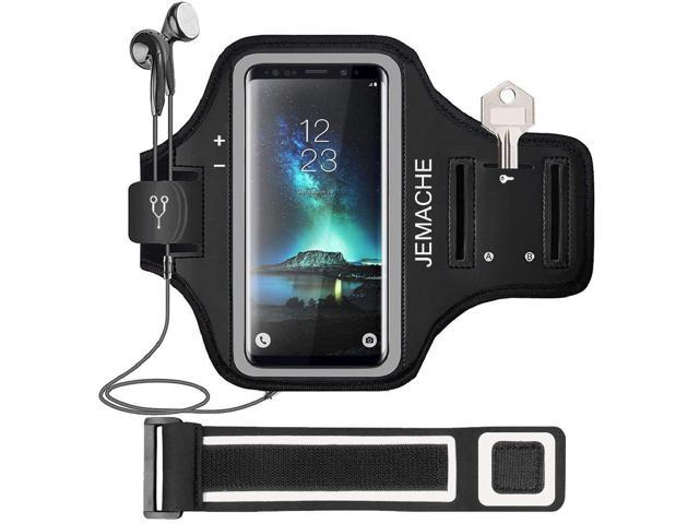 newest f03aa d8abb Galaxy S10/S9/S8 Armband, JEMACHE Gym Running Exercises Workouts Phone Arm  Band for Samsung Galaxy S10/S9/S8/S7 Edge Fits Otterbox Defender, Lifeproof  ...