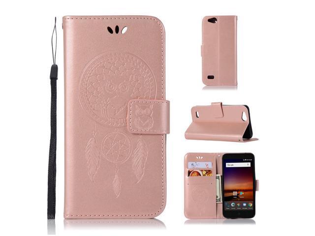 Case for ZTE ZFive C LTE Z558VL/ ZFive G Z557BL/ ZTE Blade Vantage/Fanfare  3/ Avid 4/ Tempo X N9137/ AVID 557, Mellonlu Flip Fold Wallet Leather Phone