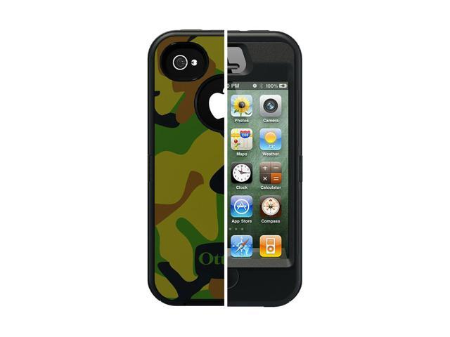 the best attitude c649d 9f907 Otterbox 77-18632 Defender Case for Apple iPhone 4, 4S - 1 Pack - Retail  Packaging - Jungle - Newegg.com