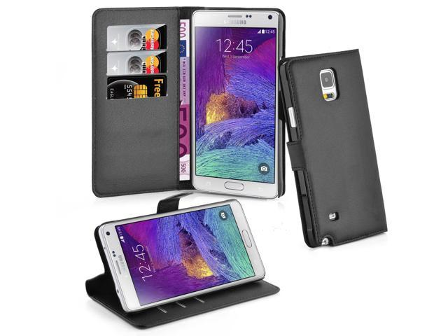 wholesale dealer 3a5a7 cec58 Cadorabo Book Case Works with Samsung Galaxy Note 4 in Oxid Black – with  Magnetic Closure, Stand Function and Card Slot – Wallet Etui Cover Pouch ...