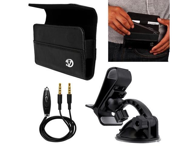 VanGoddy Jet Black Portola Holster Carrying Case Kyocera Smartphones +  Windshield Mount + Auxiliary Cable - Newegg com