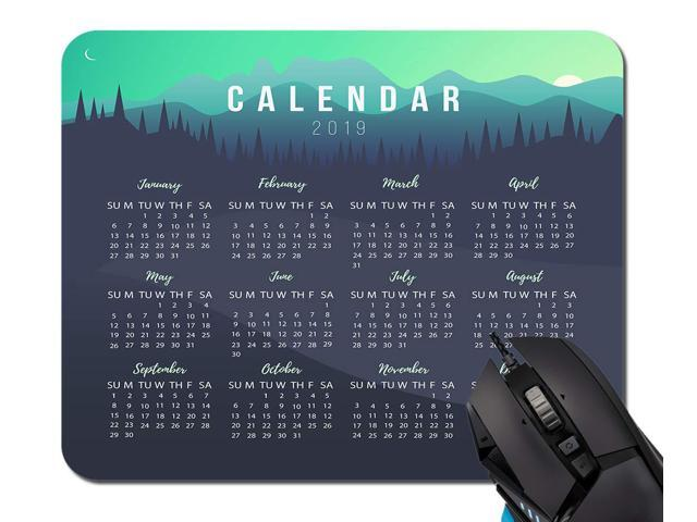 graphic regarding Printable Mouse Pad identified as 2019 Calendar Tailored Style Mousepad Mouse Pads Rectangle Non-Slip Rubber Mousepad Gaming Mouse Pad (Lovable Printable) -