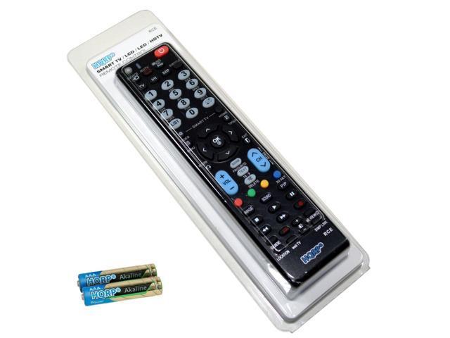 HQRP Remote Control for LG 32LB4D 32LB9D 32LC2D 32LC2DC 32LC5DC 32LC5DCS  32LD520 32LE5300 LCD LED HD TV Smart 1080p 3D Ultra 4K + HQRP Coaster -