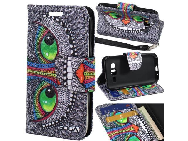 cheap for discount 53bfa 7899d Samsung Galaxy Prevail LTE/Galaxy Core Prime Case, SOGA [Pocketbook Series]  PU Leather Magnetic Flip Design Wallet Case for Samsung Galaxy Prevail ...