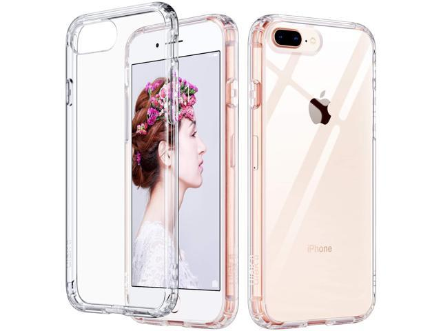 new styles 53ad1 b72d8 ULAK iPhone 8 Plus Case Clear, iPhone 7 Plus Case, Clear Slim Flexible Soft  TPU Bumper Shock-Absorption Anti-Scratch Bumper Hard Back Cover for iPhone  ...